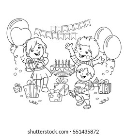 coloring page outline children ts 260nw