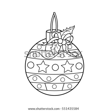 coloring page outline of christmas ball christmas new year coloring book for kids