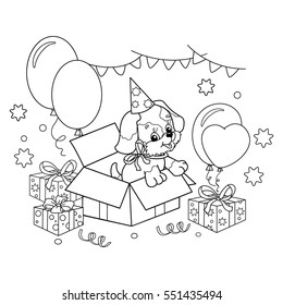 coloring page outline cute puppy 260nw