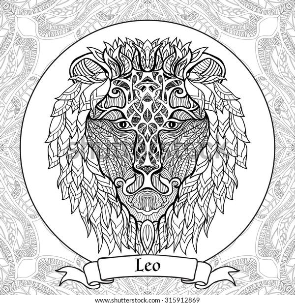 Virgo zodiac sign artwork, adult coloring book - Stock ... | 620x600
