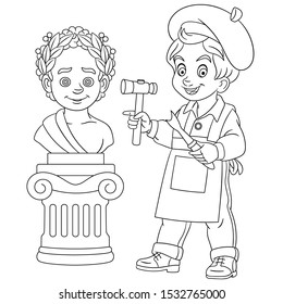 Coloring Book About Job High Res Stock Images Shutterstock
