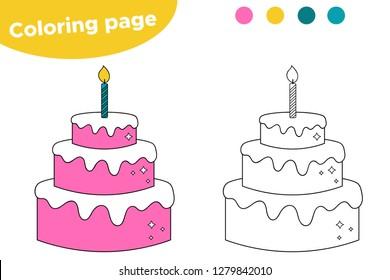 coloring page preschool kids big 260nw