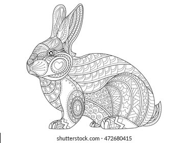 Colouring Pages Rabbit High Res Stock Images Shutterstock