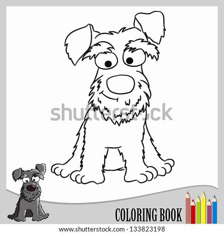 Coloring Page Schnauzer Vector Stock Vector Royalty Free 133823198