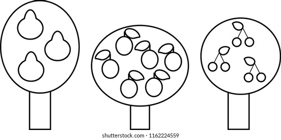 Pear Tree Isolated Stock Vectors Images Vector Art