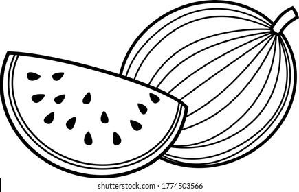Watermelon Contour Images Stock Photos Vectors Shutterstock