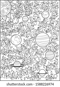 Solar System Coloring Page Stock Vectors Images Vector Art Shutterstock