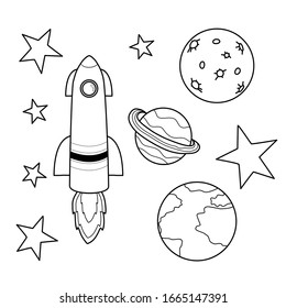 Colouring Pages Rockets Images Stock Photos Vectors Shutterstock