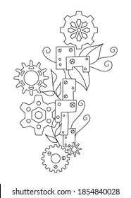 Steampunk Colouring Pages High Res Stock Images Shutterstock