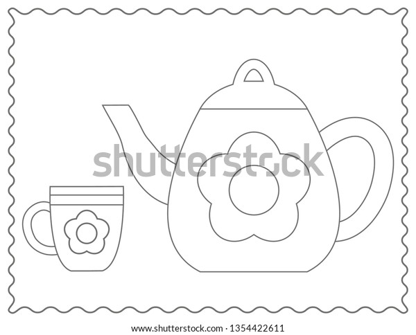 Free Teacup Coloring Page, Download Free Clip Art, Free Clip Art ... | 484x600