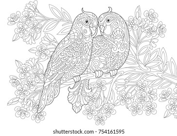 Birds Colouring Pages Images, Stock Photos & Vectors ...
