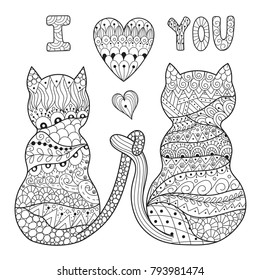 Adult Coloring Pages Cat Images, Stock Photos & Vectors ...