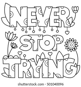Adult Coloring Pages Quotes Images Stock Photos Vectors
