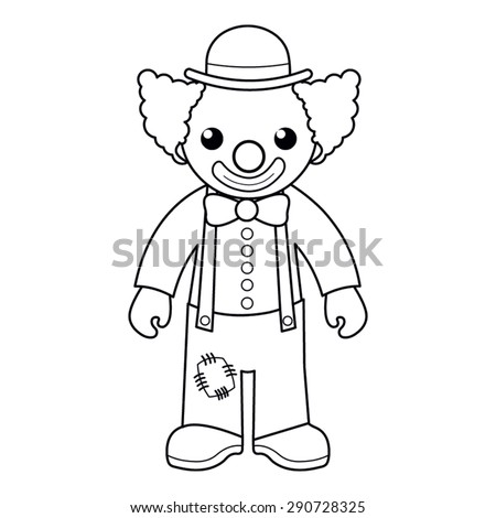 Coloring Page Vector Illustration Black White Stock Vektorgrafik