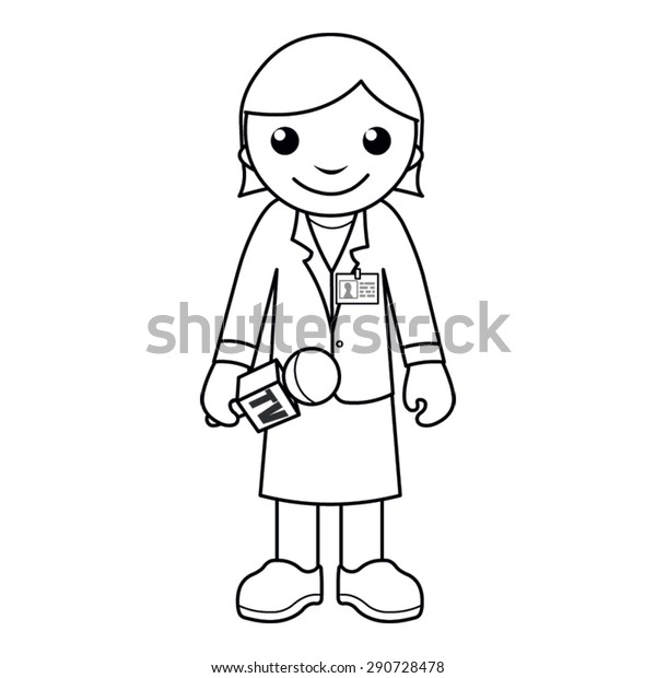 Coloring Page Vector Illustration Black White Stock Vector (Royalty Free)  290728478