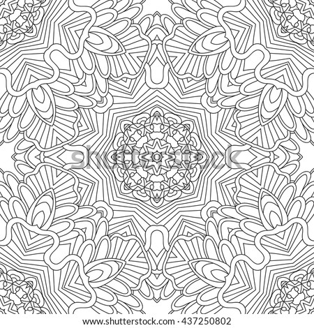 Coloring Pages Adults Coloring Book Decorative Hand Stock Vector