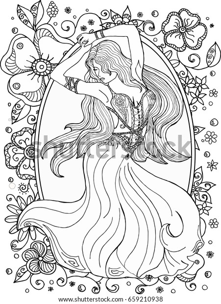 coloring-page-ballerina-girls-dancing-black-white-outline-image ... | 620x451