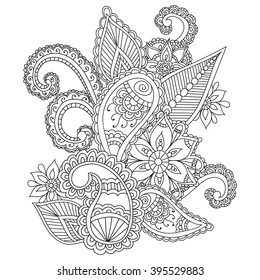coloring pages adults henna mehndi 260nw