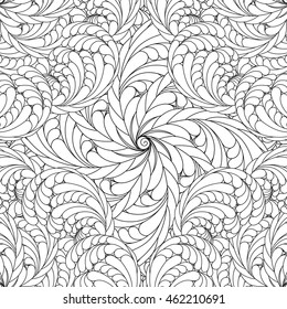 Coloring pages for adults and older children. Vector floral, mandala, patterns. abstract floral background. Decorative pattern, Geometric pattern. black and white.