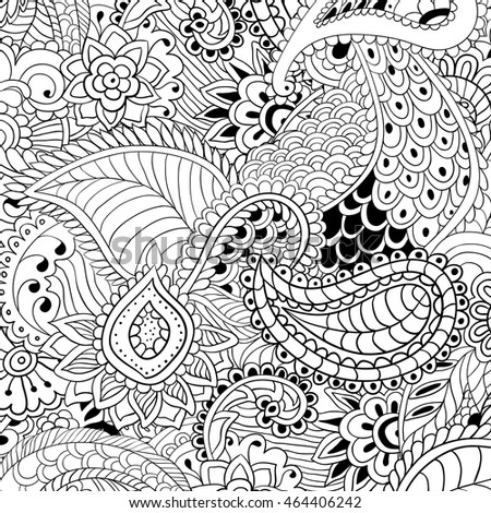 Coloring Pages Adults Abstract Vector Illustration Stock Vector ...