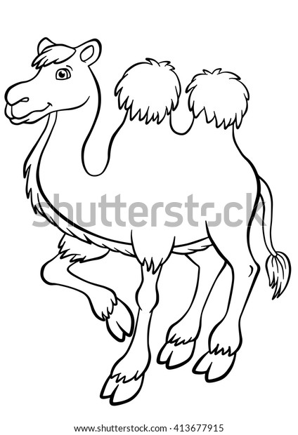 Camel Coloring Page - Super Simple | 620x424