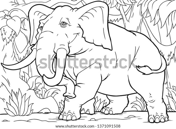Cute Baby Elephant Coloring Pages - Part 3 | 441x600