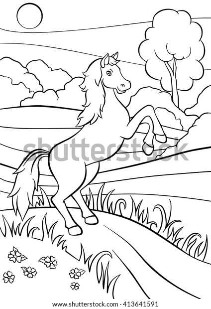 Dressage Horse Coloring Pages - Dressage Horse Lineart ... | 620x424