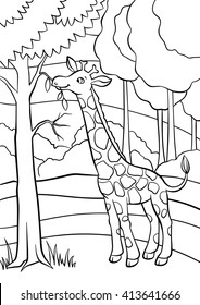 coloring pages animals little cute 260nw