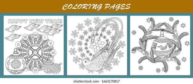 Detailed Coloring Books For Kids: Zoo Animals: Black Background ... | 280x637