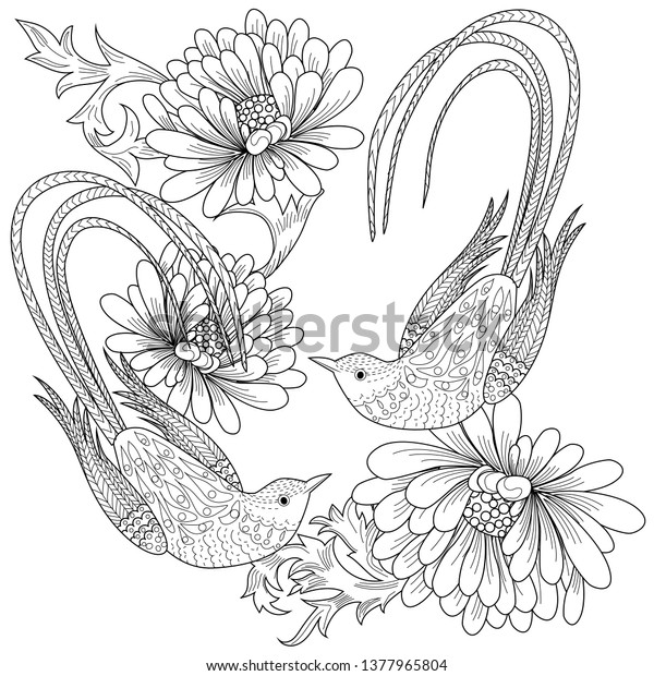 Coloring Pages Coloring Book Adults Children Stock Vector (Royalty ...