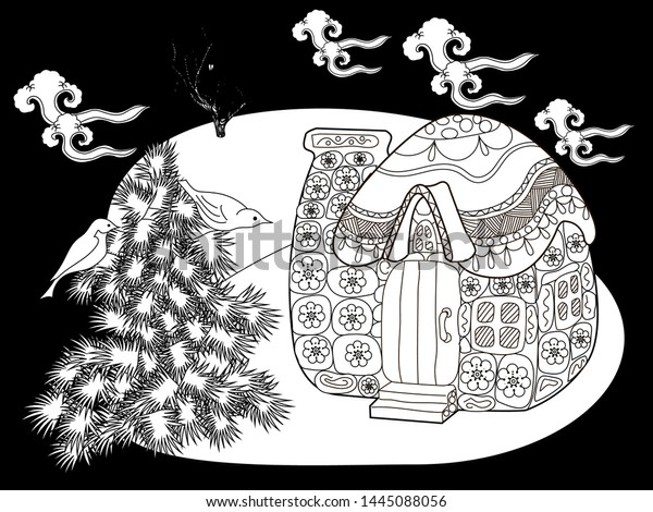 Coloring Pages Coloring Book Adults Children Stock Vector ...