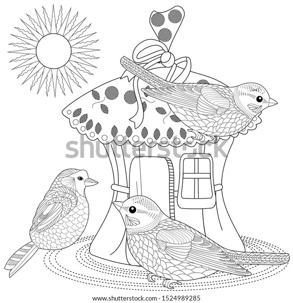 Coloring Pages Coloring Book Adults Children Stock Vector Royalty Free 1524989285