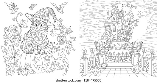 Horror Coloring Images Stock Photos Vectors Shutterstock