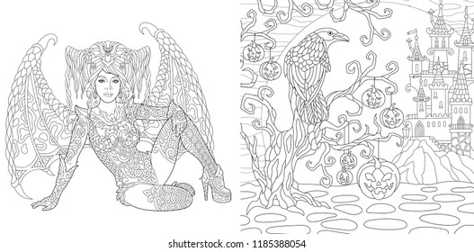 Gothic Coloring Pages Images, Stock Photos & Vectors ...