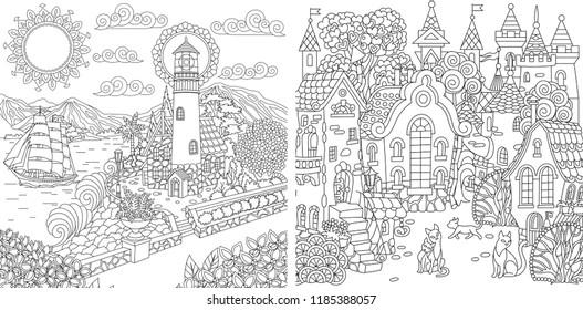 Adult Coloring Page Sun Images, Stock Photos & Vectors ...