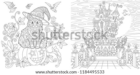 Coloring Pages Coloring Book Adults Colouring Stock Vektorgrafik