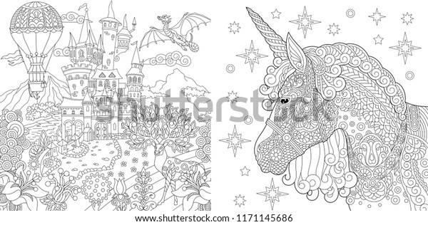 Coloring Pages Coloring Book Adults Colouring Stock ...