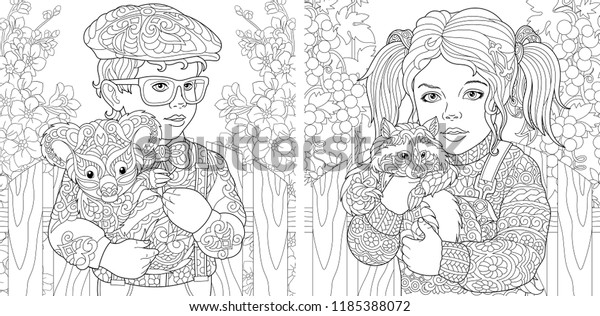 - Coloring Pages Coloring Book Adults Colouring Stock Vector (Royalty Free)  1185388072