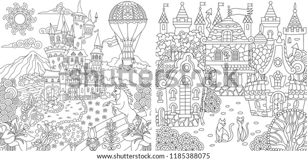 Coloring Pages Coloring Book Adults Colouring Stock Vector ...