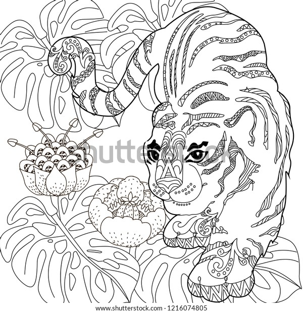 - Coloring Pages Coloring Book Adults Colouring Stock Vector (Royalty Free)  1216074805