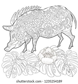 Coloring Pages Coloring Book Adults Cute Stock Vector Royalty Free