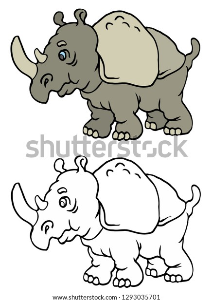 Coloring page for adults with rhinoceros, rhino printable | 620x438
