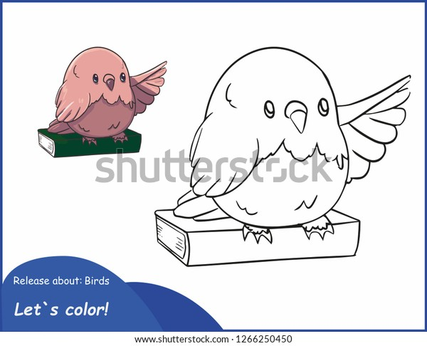 Coloring Pages Color This Bird Vector Stock Vector (Royalty ...