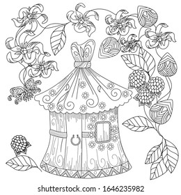 Birdhouse Coloring Page - Coloring Home | 280x260
