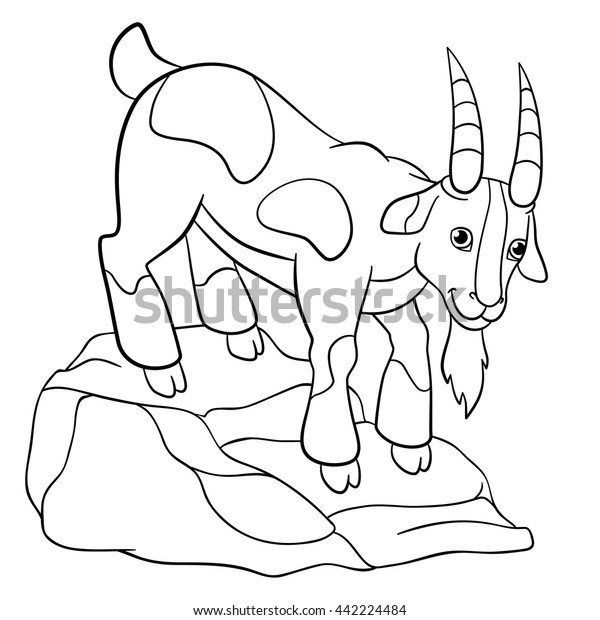 Billy Goat coloring page | Free Printable Coloring Pages | 620x600