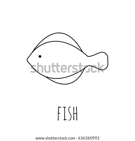 Coloring Pages Fish Painting Page Game Stock Vector (Royalty Free ...