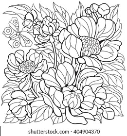 Colouring Pages Flower Stock Vectors Images Vector Art Shutterstock