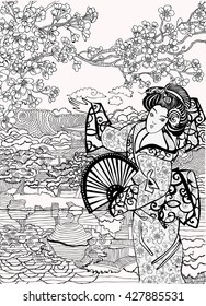Coloring pages .Japan