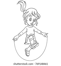 Jump Rope Coloring Page - Ultra Coloring Pages | 280x260