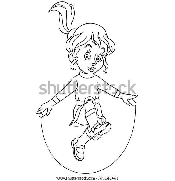 Coloring Page jump rope - free printable coloring pages | 620x600